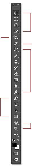 herramientas de adobe photoshop cs6, herramientas de diseño photoshop