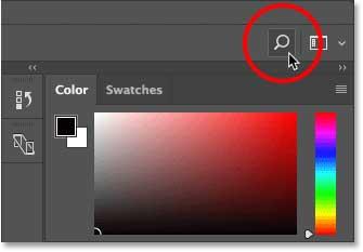 interfaz de usuario de photoshop
